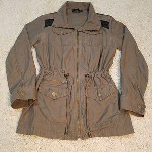 Cargo Jacket w/ leather shoulders